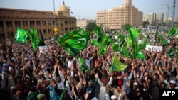 Pakistani Muslims shout anti-U.S. slogans during a protest against an anti-Islam movie in Karachi on September 19.