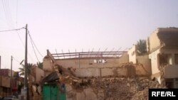 Destroyed mosque in Iraq