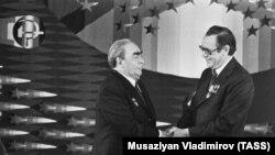 Машэраў і Брэжнеў у Менску, 1978 год