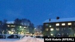 Киркенес 5 декабря 2012 года: полярная ночь, мороз минус 16 градусов и снег