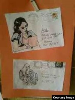 Конверты, в которых пришли ответы на письма, посланные заключенным из Чехии