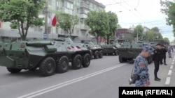 Акмәчеттә хәрби парадта катнашкан хәрби техника