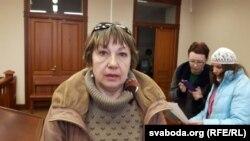 Галіна Лагацкая ў судзе