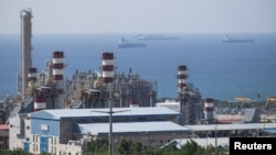 A general view shows a unit of Iran's South Pars gas field (file photo)