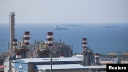 A general view shows a unit of South Pars gas field in Asalouyeh Seaport, north of Persian Gulf.