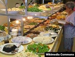 Tayvanda vegetarianlar üçün restoran