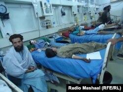 Поранені черз зуслетрус у шпиталі, Афганістан