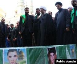 برگزاری مراسم تشییع سه شهروند افغان در قم.