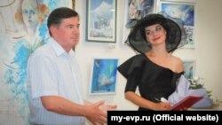 Ксенія Симонова на відкритті своєї виставки в Євпаторії