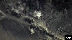 Кадр из официальных съемок бомбардировок Сирии, размещенных в фейсбуке Министерства обороны России
