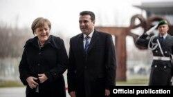 Kancelarja Merkel dhe kryeministri Zaev. Foto nga arkivi