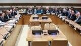 ԱՄՆ - ԵՄ, Ռուսաստանի, Չինաստանի, Մեծ Բրիտանիայի, Ֆրանսիայի, Գերմանիայի և Իրանի ԱԳ նախարարների հանդիպումը ՄԱԿ-ի կենտրոնակայանում, Նյու Յորք, 25-ը սեպտեմբերի, 2018թ․