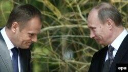 Donald Tusk və Vladimir Putin