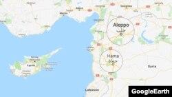 ارتش سوریه گفته است موشکها به «پایگاههای نظامی در مناطق روستایی حما و حلب شلیک شدهاست»