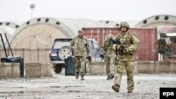 Кэмп-Бастион базасындағы британ әскерилері. Гильменд аймағы, Ауғанстан, 2 ақпан 2014 жыл. (Көрнекі сурет)