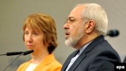 Єврокомісар Кетрін Ештон та міністр закордонних справ Ірану Мохаммед Джавад Заріф
