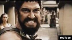 "Кадр из фильма ""300 спартанцев""."