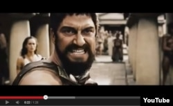"""""""300 spartalı"""" filmindən kadr, Youtube"""