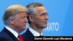 Президент США Донльд Трамп и генеральный секретарь НАТО Йенс Столтенберг