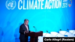 UN Secretary-General Antonio Guterres speaks during the opening of the Climate Action Summit at UN headquarters in New York City on September 23.