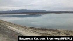 Тайганское водохранилище в январе