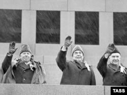 Леанід Брэжнеў (у цэнтры), 1973 год