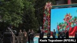 Открытие торжественных мероприятий, посвященных Дню защитника Отечества и Дню призывника. Алматы, 7 мая 2015 года.
