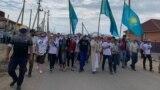 Kazakhstan - Commemoration of Kazakh civic activist Dulat Agadil at his village Talapker. Nur-Sultan, Kazakhstan, August 8, 2020.