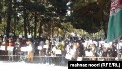 دانشجویان دانشگاه کابل، بعد از حمله اخیر به این دانشگاه که منجر به کشته شدن تعدادی از دانشجویان شد، تجمع اعتراضی برگزار کردند.