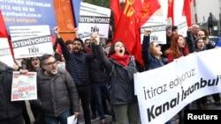Проектът за новия канал предизвика протести в Истанбул
