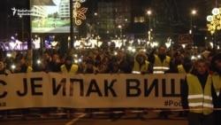 Belgradda öldürilen kosowaly serbiň hatyrasyna ýöriş gurnaldy