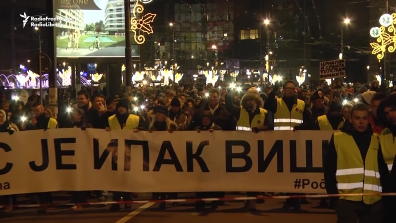 Belgrade March Commemorates Slain Kosovar Serb