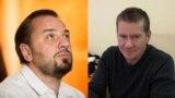 Сяргей Драздоўскі (зьлева) і Алег Граблеўскі.