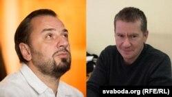 Сяргей Драздоўскі (зьлева) і Алег Граблеўскі. Фотакаляж