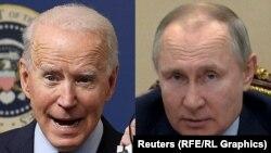 Претседателот на САД Џо Бајден и рускиот претседател Владимир Путин