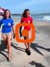اولین مسابقات موجسواری پس از شیوع کرونا در سواحل آروگام