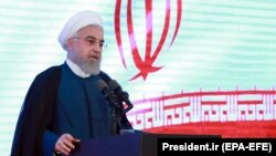 Iranian President Hassan Rohani speaks during a ceremony in Tehran last week.