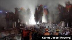 Adamlary halas etmek boýunça işler, Mehiko şäheri, 20-nji sentýabr, 2017