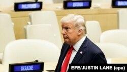 ԱՄՆ նախագահ Դոնալդ Թրամփը ՄԱԿ-ի կենտրոնակայանում, Նյու Յորք, 18-ը սեպտեմբերի, 2017թ․