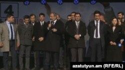 Никол Пашинян в Араратской области, 3 декабря 2018 г.