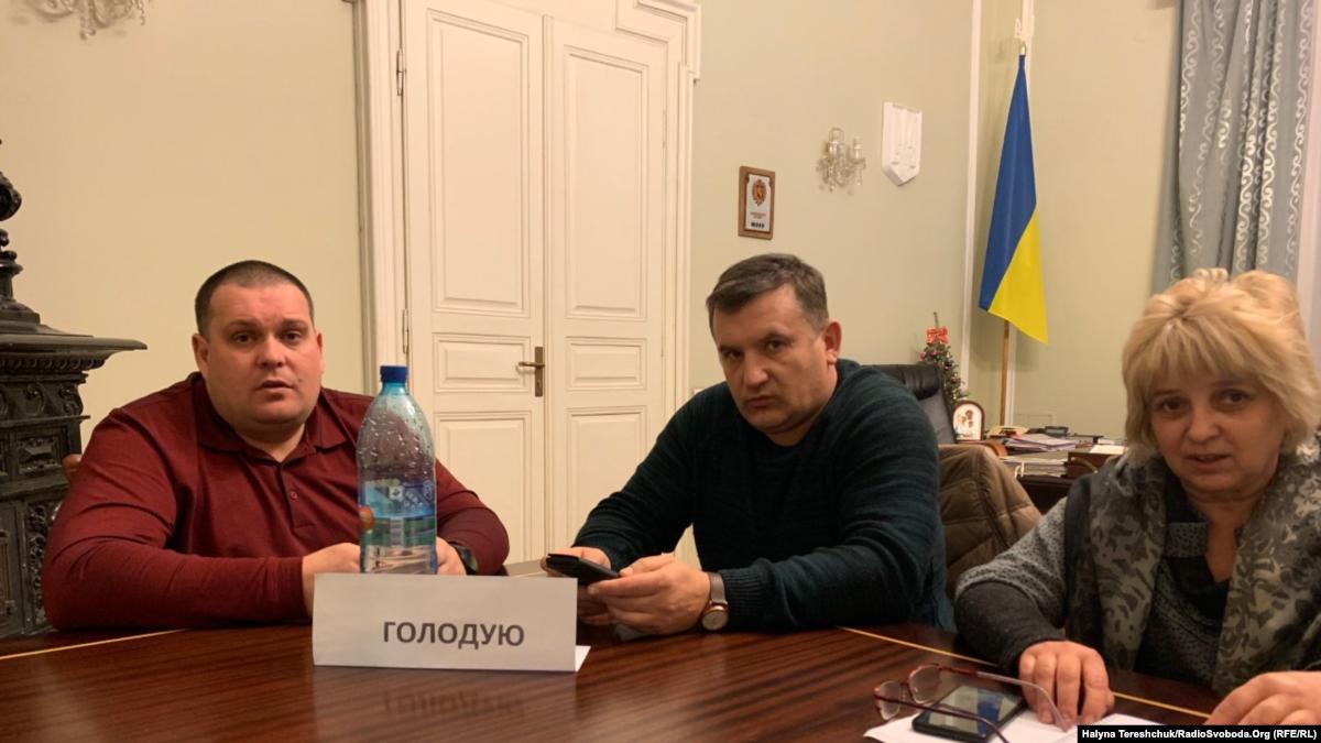Лидеры профсоюзов горняков объявили голодовку в помещении Львовской обладминистрации
