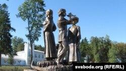 Скульптурная кампазыцыя ў Хойніцкім парку