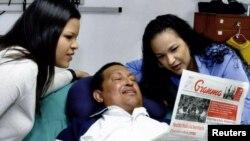 Уго Чавес с дочерьми