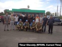 Обмен военнопленными. На снимке особожденные военнослужающие ВСУ