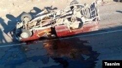 برخورد دو وانت در مسیر سراوان به خاش ۲۸ کشته بر جا گذاشت (عکس از آرشیو)