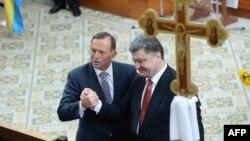 Tony Abbott i Peter Porošenko u Melburnu