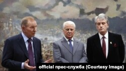 Экс-президенты Украины Леонид Кучма, Леонид Кравчук и Виктор Ющенко (слева направо)