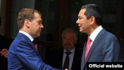 Переговоры премьер-министров России и Кыргызстана, Москва, 24 июля 2012 года.
