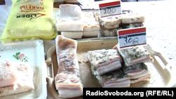 Стоимость сала в оккупированном Донецке