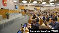 Заседание Государственной думы России. 8 мая 2018 года.